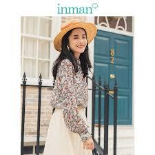 <b>INMAN 2019 Autumn New</b> Arrival 100%Cotton Turn Down Collar ...