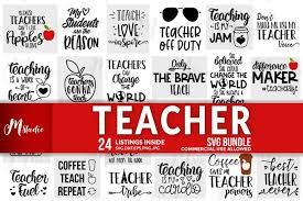There are 43439 teacher svg files for sale on etsy, and they cost $2.53 on average. Teacher Svg Bundle 249345 Cut Files Design Bundles