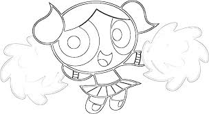 Powerpuff Girls Coloring Page Character Girls Coloring Pages Girls
