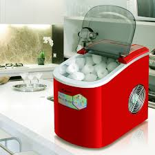 details about 220v portable clear ice maker countertop ice cube machine home bar kitchen red