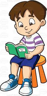 a boy ping time while reading his favorite storybook cartoon