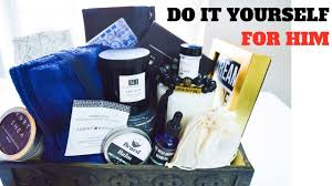 diy gift basket ideas for him shrink wrapped