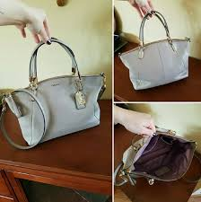 COACH Madison Kelsey bag 28095 in Grey Birch