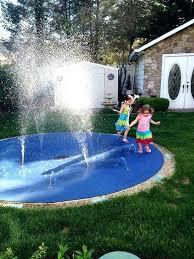 backyard splash pad diy backyard splash pad new how to lay instant turf home interior decorations