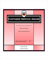 customer service award template service award template 6 free word excel pdf documents download