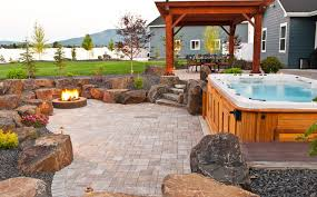 Backyards By Design Interesting Spokane Coeur D'Alene Backyard Fire Pit Design Construction