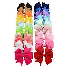 <b>20 Pcs</b> /<b>Set</b> Different Colors Bowknot Hairpin <b>Kids</b> Baby Girls <b>Hair</b> ...