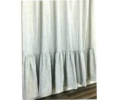 black and white ticking striped shower curtain with mermaid long ruffles stripe curtains decorating red ds