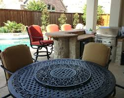 large round outdoor dining table outdoor dining table fire pit with round metal patio table and
