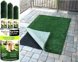 diy dog potty patch patio