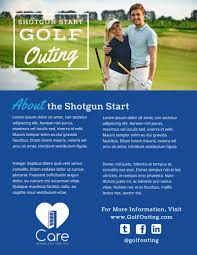 Classic Golf Outing Flyer Template