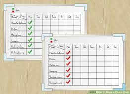 Make A Chore List How To Make A Chore Chart With Pictures Wikihow