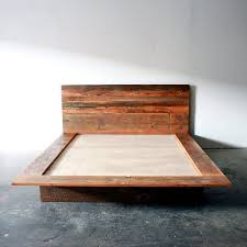 Reclaimed wood bed frame distressed wood queen bed simple wood bed ...
