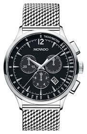 mens mesh strap watch nordstrom men s movado circa chronograph mesh strap watch 42mm