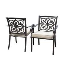 aluminum patio chairs. Display Product Reviews For Ebervale 2-Count Aged Bronze Aluminum Patio Dining Chairs With Tan O