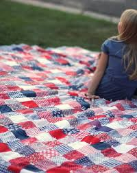 July + Summer handwork projects | Patchwork, Scrap and Patterns & Fourth of July Patchwork Quilt, just scraps no need for a special pattern Adamdwight.com