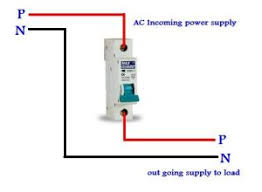mcb connection diagram for single pole circuit breaker mcb connection diagram