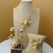 Dubai Gold Jewellery Designs Photos Yuminglai 2019 African Jewelry 24k Dubai Gold Jewellery Sets Unique Bee Design Jewelry Sets Necklace Fhk5479