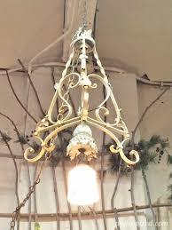 repurposed lighting. Repurposed Lighting With Iron Table Legs