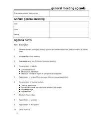 Business Agenda 46 Effective Meeting Agenda Templates Template Lab