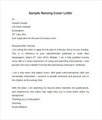 Sample Nursing Cover Letter Template Bunch Ideas Of Cover Letter