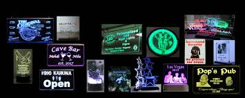 Personalized Light Up Bar Signs Unique Led Products Custom Led Signs Unique Night Lights