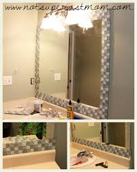 bathroom mirror frame tile. Contemporary Tile How To Mosaic Tile A Mirror DIY From Not Super Just Mom With Bathroom Frame M