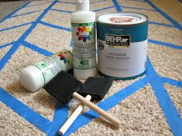 fluffy painted rug materials