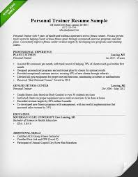 Personal Trainer Resume Sample And Writing Guide Rg