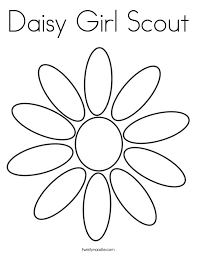 Small Picture Daisy Girl Scout Coloring Page Twisty Noodle