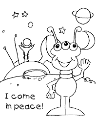 Small Picture Space Aliens Coloring Pages Get Coloring Pages
