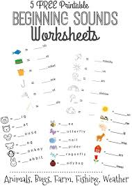 Beginning Sounds Letter Worksheets for Early Learners ...