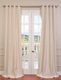 selection of the best budget half ds off white grommet blackout vintage textured faux dupioni silk curtain compare best value