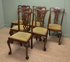 antique dining room chairs. Antique Dining Room Chairs Set Of Six Chippendale Design U