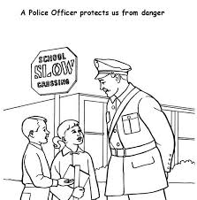 Small Picture Police Officer Helping Kid Cross the Road Coloring Page NetArt