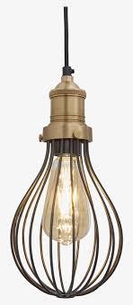 brooklyn balloon pendant light copper cage pendant lights transpa png