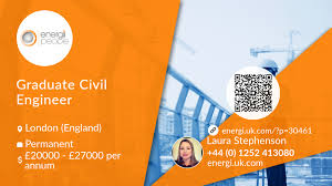 Graphic Design Jobs London England Graduate Civil Engineer Job London Energi People