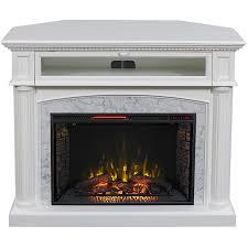 scott living 54 in w 5 200 btu white painted mdf infrared quartz electric fireplace