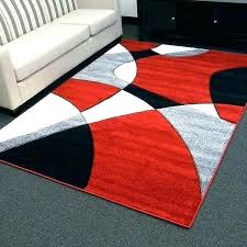 red and white area rug black design abstract wave gray rugs tan