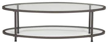 camber 48 oval metal and glass coffee