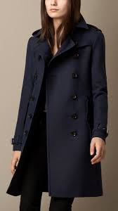 navy coats burberry brit wool cotton twill trench coat
