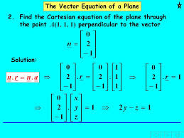 the vector equation of a plane 2