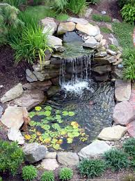 Small Picture garden landscaping Charming Backyard Pond Pictures which You Can