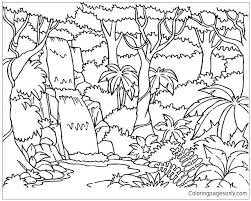 Coloring Pages Forest Klubfogyas