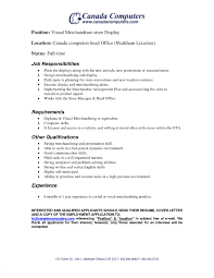 Visual Merchandiser Resume Samples Legalsocialmobilitypartnership Com