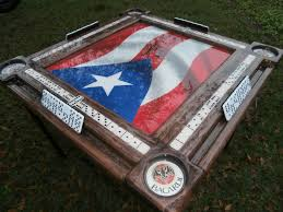 Domino Table Puerto Rico Design Domino Tables By Art With Puerto Rican Flag And Your Name
