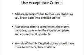 Agile User Story Acceptance Criteria Template Agile Acceptance Criteria Sample Examples And Templates Template Sumo