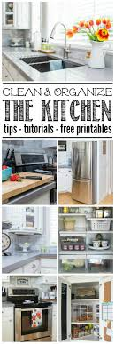 Organize Kitchen Clean And Organize The Kitchen February Hod Printables Clean