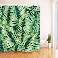 large size of curtain tropical jungle palm banana leaf shower curtain extra long fabric inspiration