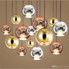 tom copper fashion glass ball dixon bubble best ceiling lighting pendants lamp e27 220v 110v gold